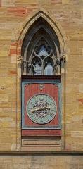 Ancienne collégiale Saint-Martin - Français:   Horloge de la collégiale Saint-Martin de Colmar (Haut-Rhin, France).