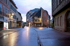 Ancien hôtel de Reiset -  Colmar, le soir, après la pluie