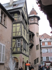 Maison - English: The Pfister house, on the side of the rue des Marchands in Colmar, France.