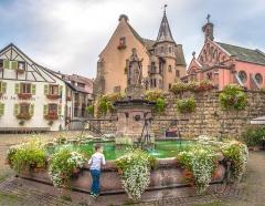 Fontaine datée de 1557 située devant l'Ecole des Filles -
