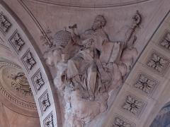 Abbaye - Français:   Alsace, Haut-Rhin, Église abbatiale Notre-Dame de Guebwiller (1768-1785), place Jeanne-d\'Arc (PA00085438, IA00054832). Relief \