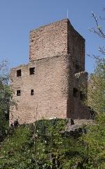 Ruines des châteaux de Weckmund et de Wahlenbourg - Français:   Château de Wahlenbourg à Husseren-les-Châteaux (Haut-Rhin, France).