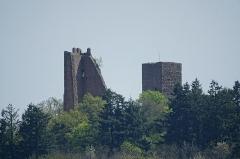 Ruines des châteaux de Weckmund et de Wahlenbourg - Français:   Châteaux de Dagsbourg à Eguisheim et de Wahlenbourg à Husseren-les-Châteaux (Haut-Rhin, France).