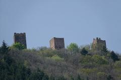 Ruines des châteaux de Weckmund et de Wahlenbourg - Français:   Châteaux de Weckmund et de Wahlenbourg à Husseren-les-Châteaux et de Dagsbourg à Eguisheim (Haut-Rhin, France).