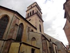 Eglise catholique de l'Invention de la Sainte-Croix - Français:   Alsace, Haut-Rhin, Église Sainte-Croix (XIIIe-XVe-XVIe) de Kaysersberg (PA00085477, IA68000563): Façade nord avec le clocher.