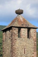 Tour dite des Sorcières dans le jardin de l'Hôtel Chambord - Deutsch: Der Kesslerturm ist ein historisches Denkmal in Kaysersberg im französischen Departement Haut-Rhin.