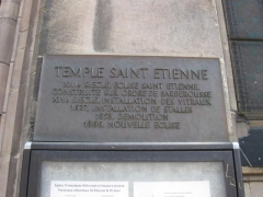 Temple réformé Saint-Etienne - English: Provide all information that will help others understand what this file represents.