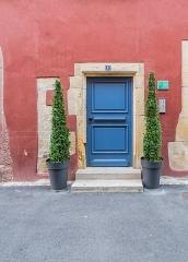Maison - English:   Door of the building at 4 rue de la Poterne in Rouffach, Haut-Rhin, France