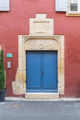 Maison - English:   Portal of the building at 4 rue de la Poterne in Rouffach, Haut-Rhin, France