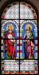 Eglise catholique Saint-Sébastien - Alsace, Haut-Rhin, Église Saint-Sébastien de Soultzmatt (PA00085689, IA68004357). Verrière