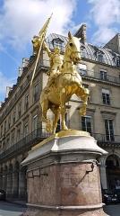 Statue de Jeanne d'Arc -  P1080406 France, Paris, la statue de Jeanne d'Arc à la Place des Pyramides