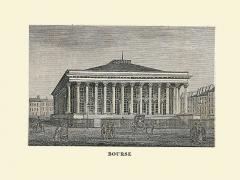 Bourse - Un des dessins du Guide de Paris de 1848, par Albert Montémont: Bourse