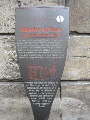 Eglise Notre-Dame-de-Bonne-Nouvelle - Français:   Panneau Histoire de Paris