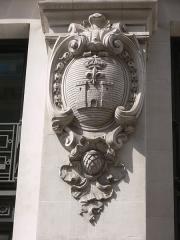 Immeuble du Crédit Lyonnais (siège) - Français:   Paris - siège du Crédit lyonnais - rue de Gramont. Armoiries d\'Angoulême.