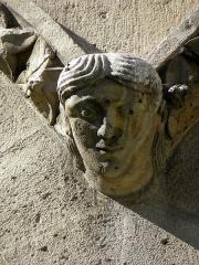 Ancienne abbaye Saint-Martin-des-Champs, actuellement Conservatoire National des Arts et Métiers et Musée National des Techniques - Chevet de l'église prieurale de Saint-Martin-des-Champs à Paris (75003). Détail.