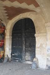 Immeuble - Deutsch: Hôtel, 4 Place des Vosges, im 4. Arrondissement in Paris (Île-de-France/Frankreich), Tür
