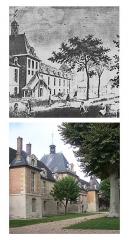 Hôpital Saint-Louis - Deutsch: Abbildungen des Hôpital Saint-Louis 1830 und 2006