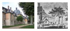 Hôpital Saint-Louis - Deutsch: Montage aus zwei Abbildungen des Hopital Saint-Louis