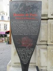 Théâtre de la Renaissance - Français:   Panneau Histoire de Paris «Théâtre de la Renaissance»