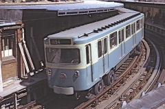 Métropolitain, station Bastille -  MP 59 à Bastille en 1963