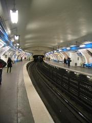 Métropolitain, station Denfert-Rochereau -  Métro de Paris - Station Denfert-Rochereau de la ligne 4.