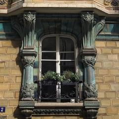 Immeuble Les Chardons - Français:   Détail de fenêtre