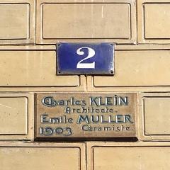 Immeuble Les Chardons - Français:   Détail de la plaque