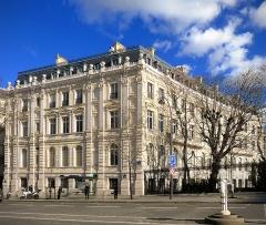 Hôtel de Günsburg - Français:   Avenue de Wagram et place Charles-de-Gaulle - Paris XVII