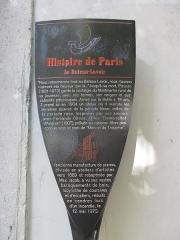 Le Bateau Lavoir - Français:   Panneau Histoire de Paris