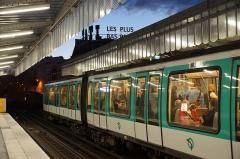 Métropolitain, station Barbès-Rochechouart -  Barbès - Rochechouart metro station, Paris.