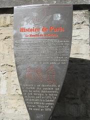 Moulin de la Galette - Français:   Panneau Histoire de Paris