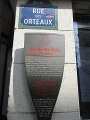 Hospice Debrousse - Français:   Panneau Histoire de Paris