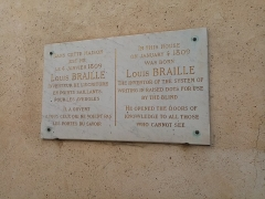 Maison natale de Louis Braille - This building is indexed in the Base Mérimée, a database of architectural heritage maintained by the French Ministry of Culture, under the reference PA00086909 .