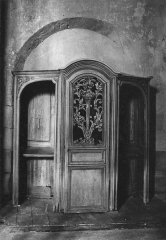 Eglise - Deutsch: Beichtstuhl in der Kirche von Fontains