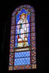 Eglise Saint-Martin - Deutsch: Katholische Pfarrkirche Saint-Martin in Jouy-en-Josas im Département Yvelines in der Region Île-de-France (Frankreich), Bleiglasfenster von Paul Nicod (1858), Darstellung: hl. Martin