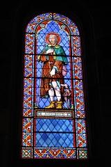 Eglise Saint-Martin - Deutsch: Katholische Pfarrkirche Saint-Martin in Jouy-en-Josas im Département Yvelines in der Region Île-de-France (Frankreich), Bleiglasfenster von Paul Nicod (1858), Darstellung: hl. Rochus
