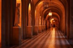 Domaine national de Versailles - Français:   une longue galeries ou les statues se succèdent, élégant impressionnant, un air d\'infinie.