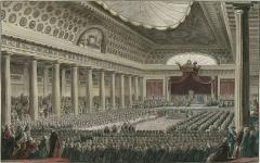 Domaine national : Hôtel des Menus-Plaisirs - Français:   Ouverture des États généraux, à Versailles dans la salle des Menus Plaisirs, le 5 mai 1789