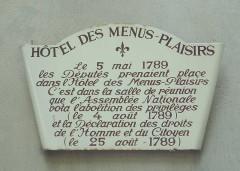 Domaine national : Hôtel des Menus-Plaisirs -