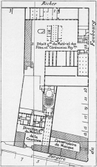 Domaine national : Hôtel des Menus-Plaisirs - English: Site plan of the Menus-Plaisirs and the Paris Conservatory, also showing the location of Conservatory Concert Hall