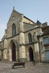 Eglise Saint-Clément - Deutsch: Katholische Pfarrkirche Saint-Clément in Arpajon im Département Essonne (Île-de-France), Westfassade