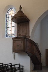 Eglise Saint-Médard - Deutsch: Alte katholische Pfarrkirche Saint-Médard in Clichy im Département Hauts-de-Seine (Île-de-France/Frankreich), Kanzel