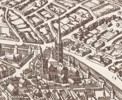 Ancienne abbaye Sainte-Geneviève, actuel lycée Henri IV - Dutch publisher, printmaker and drawer