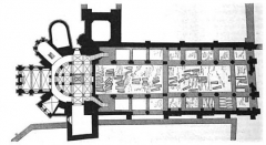 Ancienne abbaye Sainte-Geneviève, actuel lycée Henri IV - Français:   Plan