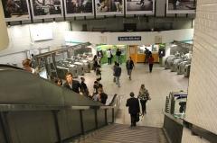 Métropolitain, station Saint-Michel -  Saint-Michel Paris Metro, France.