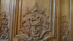 Hôtel de Noirmoutier ou de Sens, actuellement résidence du préfet de région - fable de La Fontaine, le Loup et l'Agneau, Boiseries de la salle à manger de l'Hôtel de Noirmoutier, Paris