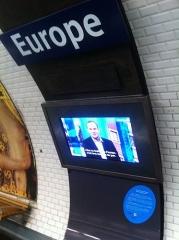 Métropolitain, station Europe - Français:   photo de DF dans le métro
