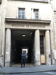 Hôtel du Ministère de l'Intérieur - Français:   Entrée du Ministère français de l\'Intérieur, rue des Saussaies