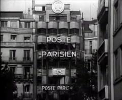 Immeubles - Français:   Façade de l\'immeuble du Poste Parisien au 116 bis avenue des Champs-Elysées à Paris