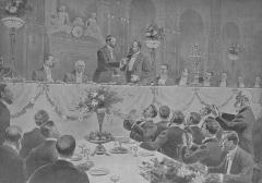 Grand Hôtel - Banquet offert aux délégués des négociants de la Cité de Londres par le Comité républicain du commerce et de l'industrie, le 28 octobre 1903, au Grand-Hôtel.